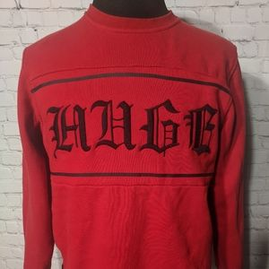 The Hundreds Red Laugh Crew Neck Sweater Sz XL